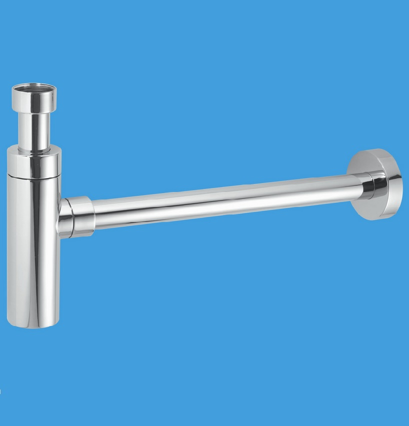 Mcalpine chrome plated traps for Outside waste pipe